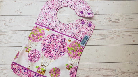 Lilac Balloon Exclusive <br>Boutique Bib<br>Instock and ready to ship