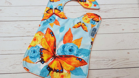 Seaside Butterfly <br>Boutique Bib<br>Instock and ready to ship