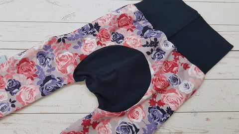 Beautiful Roses (navy accent) <br>Bella Bum Pants<br>Instock and Ready to Ship