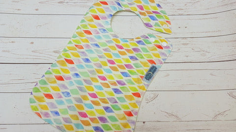 Waves Of Color, Waterproof Boutique Bib <br>Instock and ready to ship