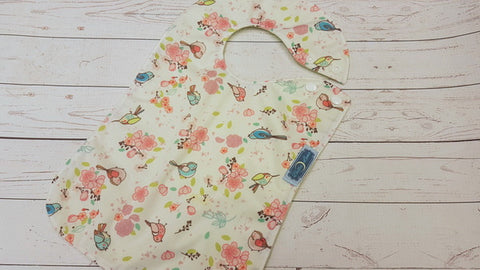 Little Blue Bird, Waterproof Boutique Bib <br>Instock and ready to ship