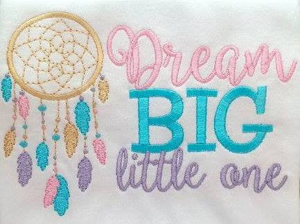 CUSTOM Dream Big<br>Choice of PUL, AWJ, Snaps, & Thread Colors<br>*PRE ORDER* <br>Embroidered, One Size Cloth Pocket Diaper
