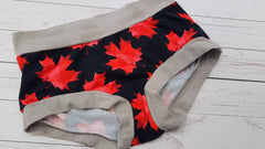 Maple Leaf (Gray Accent) Size Sm<br>Mama Bella Bottoms<br>Instock and Ready to Ship