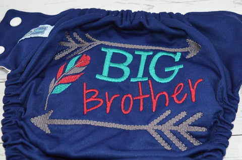 Big Brother<br>Custom, One Size Diaper