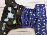 Fairy Companion (seaspray awj & snaps) <br>Performance Knit Traditional, One Size Pocket Diaper<br>Instock and Ready to Ship