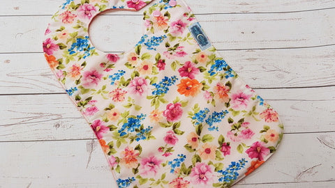 Chelsea Floral<br>Waterproof Boutique Bib<br>Instock and ready to ship