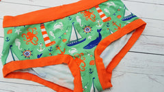 Sea Life (Orange Accent) Size XL<br>Mama Bella Bottoms<br>Instock and Ready to Ship