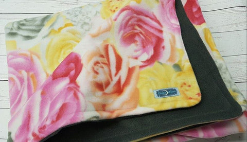 Large Roses Toddler Blanket<br>Toddler Blanket