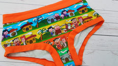 Dabadoo (Orange Accent) Size Lrg<br>Mama Bella Bottoms<br>Instock and Ready to Ship