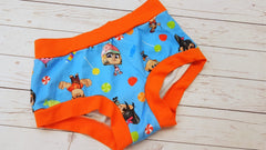 Wreck It (orange accent), Size XS<br>Mama Bella Bottoms<br>Instock and Ready to Ship