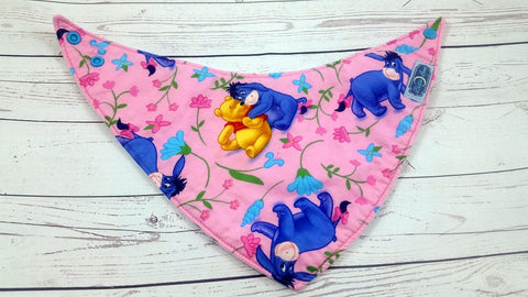 Pooh Cuddles<br>Bandana Bib<br>Instock and Ready to Ship