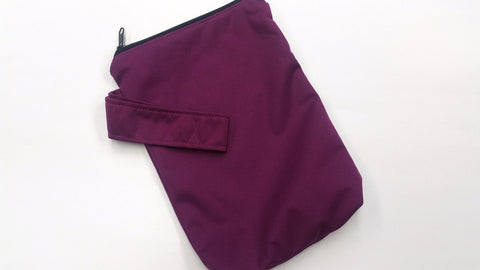 Plum Solid PUL 6.5in x 9in<br>Mini Mama Wetbag<br>Instock and Ready to Ship