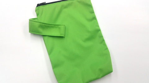 Spring Green Solid PUL 6.5in x 9in<br>Mini Mama Wetbag<br>Instock and Ready to Ship