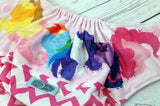 MLP Chevron (printed pul outer, light pink snaps)<br>Wrap Around, One Size Pocket Diaper<br>Instock and Ready to Ship