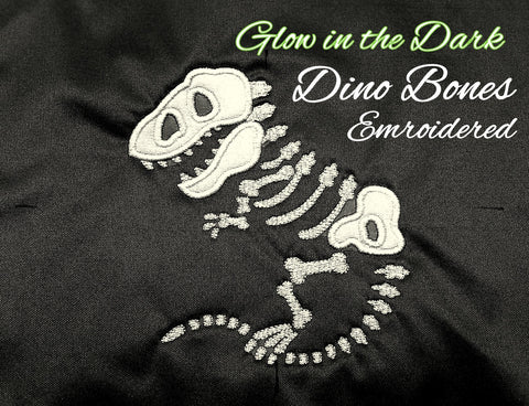 *RESERVED* Glow in the Dark, Dino Bones *PRE ORDER*<br>One Size Cloth Pocket Diaper for Alyssa Pyke