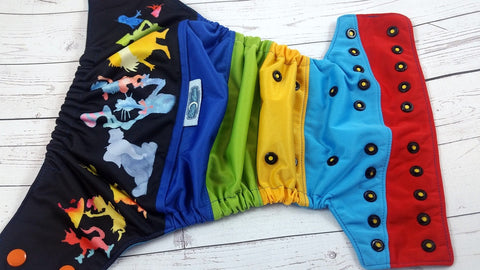 Suess & Snooze<br>PK Wrapped Scrappy, One Size Pocket Diaper<br>Instock and Ready to Ship
