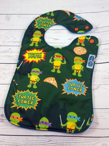 Turtle Time, PK Boutique Bib<br>Instock and ready to ship
