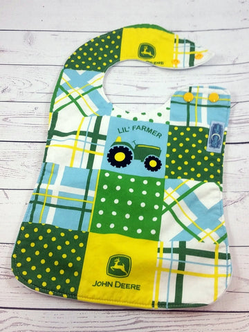 Lil' Farmer, Cotton Boutique Bib<br>Instock and ready to ship