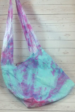 Caribbean Vineyard (2)<br>Hand Dyed, Cotton Messenger/Hobo Bag<br>Instock and Ready to Ship