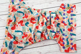 Red Haired Swimming Princess ( medium purple snaps) <br>Traditional, One Size Pocket Diaper<br>Instock and Ready to Ship