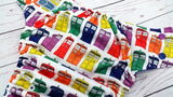 PK Rainbow Police Box (royal awj, insane snaps) <br>Performance Knit Traditional, One Size Pocket Diaper<br>Instock and Ready to Ship