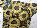 Sunny Daze (butter awj, two toned snaps; black caps, bronze pieces) <br>Traditional, One Size Pocket Diaper<br>Instock and Ready to Ship