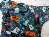 Monster Mash (imperial awj, two toned snaps; black caps, imperial pieces) <br>Traditional, One Size Pocket Diaper<br>Instock and Ready to Ship