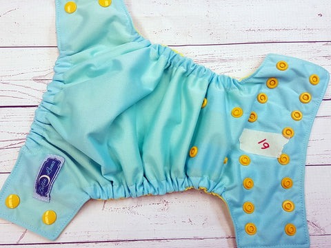 Seaspray Ella'ssential (61) <br>Size 1 Pocket Diaper<br>Instock and Ready to Ship