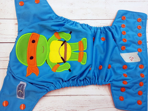 Baby Turtle (51) <br>One Size Pocket Diaper<br>Instock and Ready to Ship