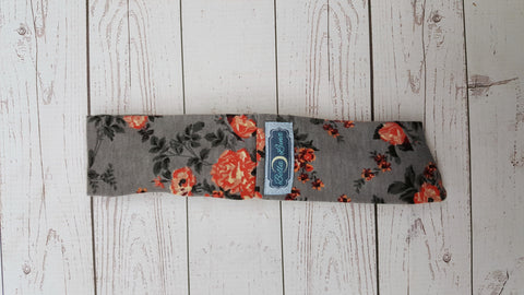 Gray Floral Mama Knot Headband<br>Instock and Ready to Ship