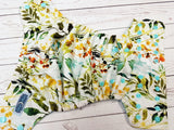 Beautiful Botanicals (seaspray awj & snaps) <br>Traditional, One Size Pocket Diaper<br>Instock and Ready to Ship