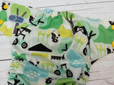 Farm Life (citron awj, two toned snaps; marigold caps, apple pieces) <br>Traditional, One Size Pocket Diaper<br>Instock and Ready to Ship