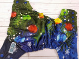 Oh Christmas Tree (royal awj & snaps) <br>Traditional, One Size Pocket Diaper<br>Instock and Ready to Ship