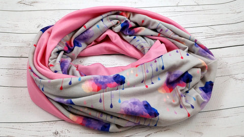 Raspberry Acid Rain<br>Knit Print Bella Scarf<br>Instock and Ready to ship