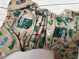 COVER- Green House<br>Exclusive Traditional, One Size Diaper<br>Instock and Ready to Ship