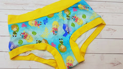 Link & Friends (yellow accent), sz lg <br>Mama Bella Bottoms<br>Instock and Ready to Ship