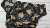 Time-Turner (black awj & snaps) <br>Performance Knit Traditional, One Size Pocket Diaper<br>Instock and Ready to Ship