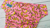 Yummy Banana (citron awj, marigold snaps) <br>Performance Knit Traditional, One Size Pocket Diaper<br>Instock and Ready to Ship