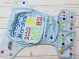 Bright Sunshine, Custom Birth Announcement<br>One Size Pocket Diaper