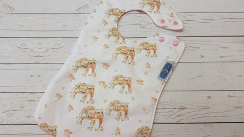 Rose Elephant  <br>Boutique Bib<br>Instock and ready to ship