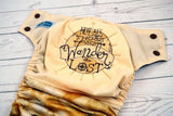 Those Who Wander <br>Embroidered Half & Half, One Size Pocket Diaper<br>Instock and Ready to Ship