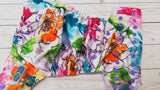 Watermark Floral (lavender awj, med. purple snaps) <br>Traditional, One Size Pocket Diaper<br>Instock and Ready to Ship