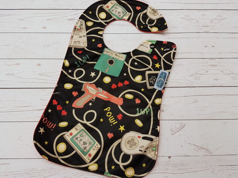 Retro Gaming, PK Boutique Bib<br>Instock and ready to ship
