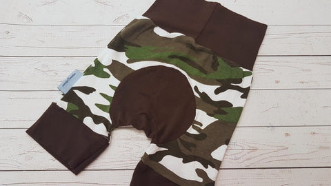 Camo (brown accents) <br>Bella Bum Shorts <br>Instock and Ready to Ship