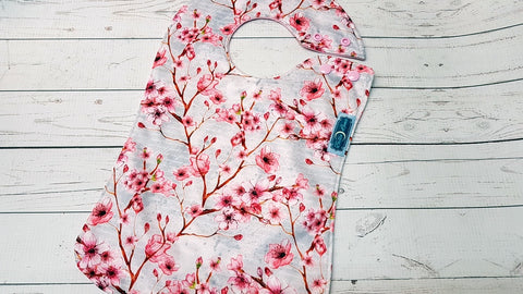 Cherry Blossoms<br>Boutique Bib<br>Instock and ready to ship
