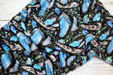 Blue Delicate Feathers (Inner- Aqua, SNaps- Royal Caps, Aqua Pieces)<br>Traditional, One Size Pocket Diaper<br>Instock and Ready to Ship