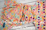 Tooti Hooti WITH RUFFLE SNAPS (Inner & Snaps- Violet)<br>Traditional, One Size Pocket Diaper<br>Instock and Ready to Ship