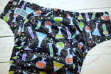Magic Potions (spring green awj, silver snaps)<br>BLACK FRIDAY DTP<br>Traditional, One Size Pocket Diaper<br>Instock and Ready to Ship