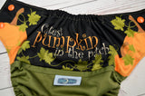 Cutest Pumpkin Exclusive (olive pul, orange awj & snaps) <br>Wrap Around, One Size Pocket Diaper<br>Instock and Ready to Ship