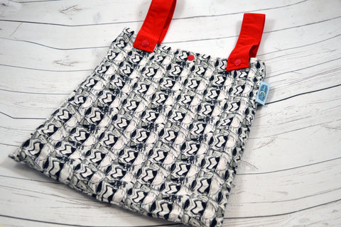 "Storm Faces, 12"" x 14"" Designer Printed Double Hanging Wetbag<br>Instock and Ready to Ship"